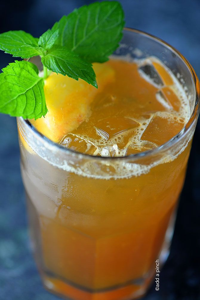 Peach Tea Recipe - Love this refreshing Southern elixir made from fresh peaches! from addapinch.com