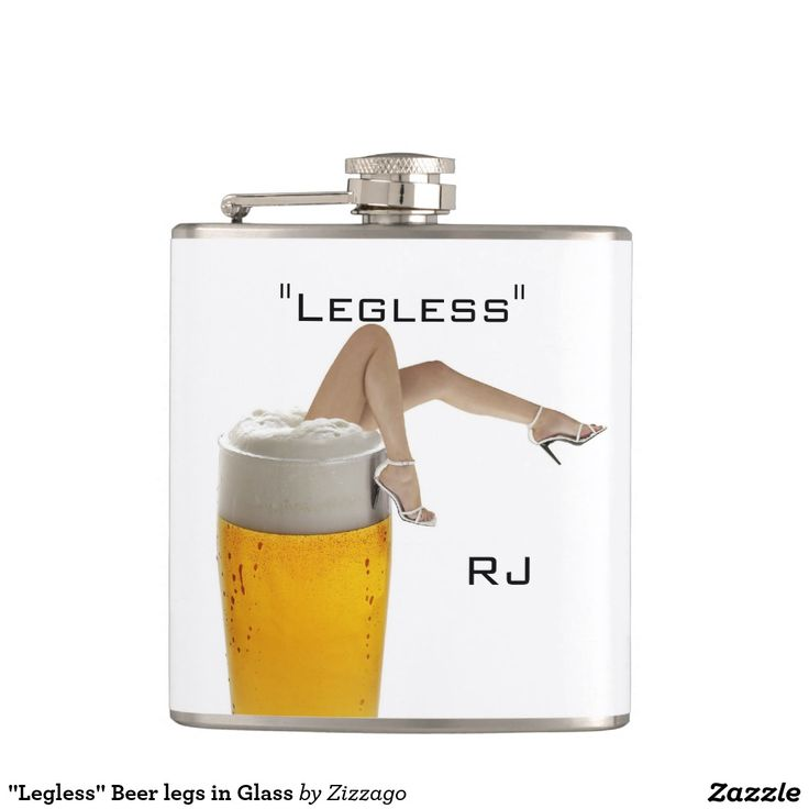 """Legless"" Beer legs in Glass Hip Flasks"