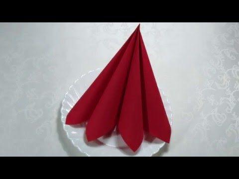 Сервировка стола как сложить салфетки на стол - очень просто./How to fold napkins - YouTube