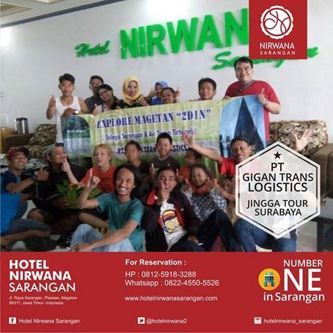 Terima kasih rombongan PT Gigan Trans Logistics bersama Jingga Tour Surabaya  Semoga nyaman menginap di Hotel Nirwana Sarangan  #hotelhitsmagetan #hotelnirwanasarangan #gigantranslogistics #jinggatoursurabaya
