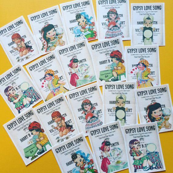 Gypsy Halloween Stickers  Set of 18  Handmade Stickers