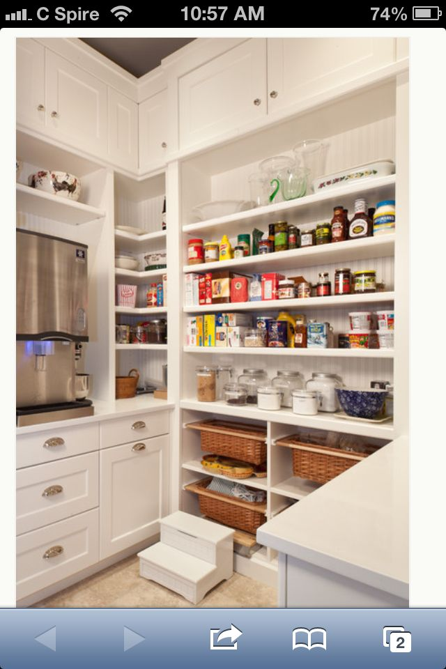 Pantry Idea From Houzz New House Ideas Pinterest Pantry Pantry Ideas And Ice