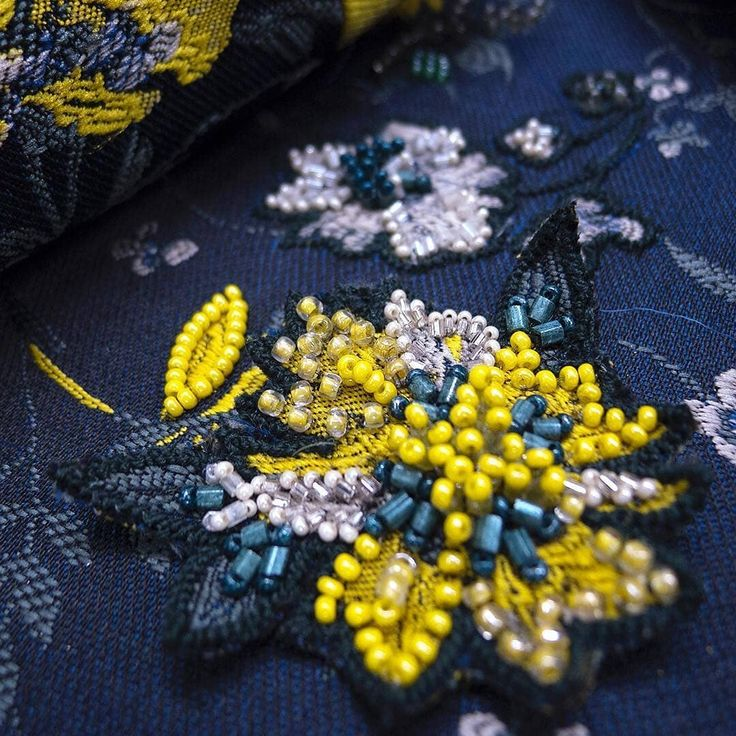 @studiononsequitur - As promised, something yellow for Easter... A little yellow beaded gem of a flower appliqué to adorn a bespoke jacquard suit set... #jacquard #beaded #bespoke #suit #handemebroidery #embroidery #beading #design #designer #dressmaking #hautecouture #tailoring #handmade #tailormade #oneofakind #madetoorder #madetomeasure #couture #embellishments #fashion #style #bridal #custommade #ethicallymade #ethicalfashion #easter #inspiration #yellow #suit
