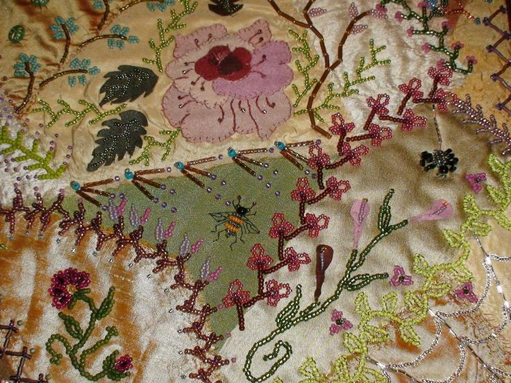 Victorian Crazy Quilt Patterns | Quilting Ideas | Project on Craftsy: Crazy for Beads