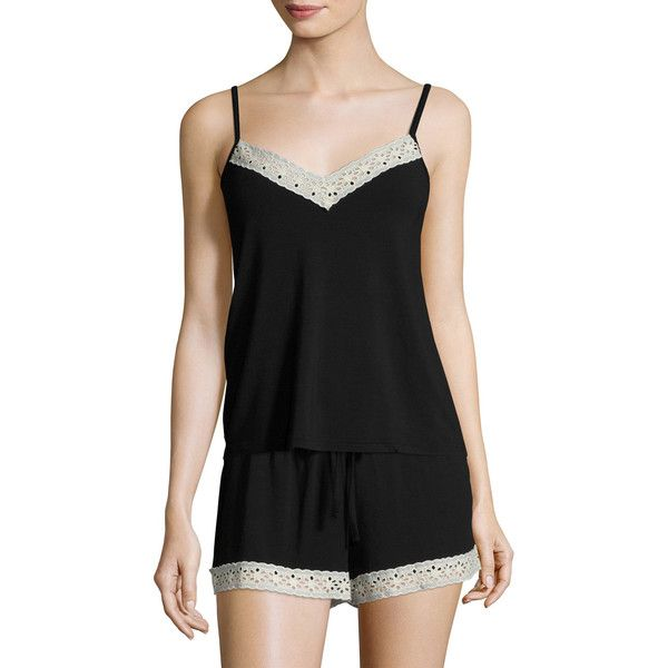 Heidi Klum Intimates Women's Petite Manon Sleep Top - Size lge ($12) ❤ liked on Polyvore featuring intimates, sleepwear, pajamas, multi, petite sleepwear, petite pajamas, petite pyjamas and knit pajamas