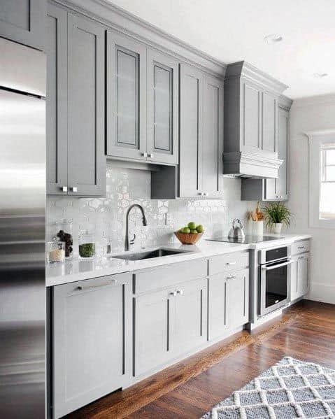 Top 50 Best Grey Kitchen Ideas Refined Interior Designs In 2021 Grey Kitchens Grey Kitchen Kitchen Remodel