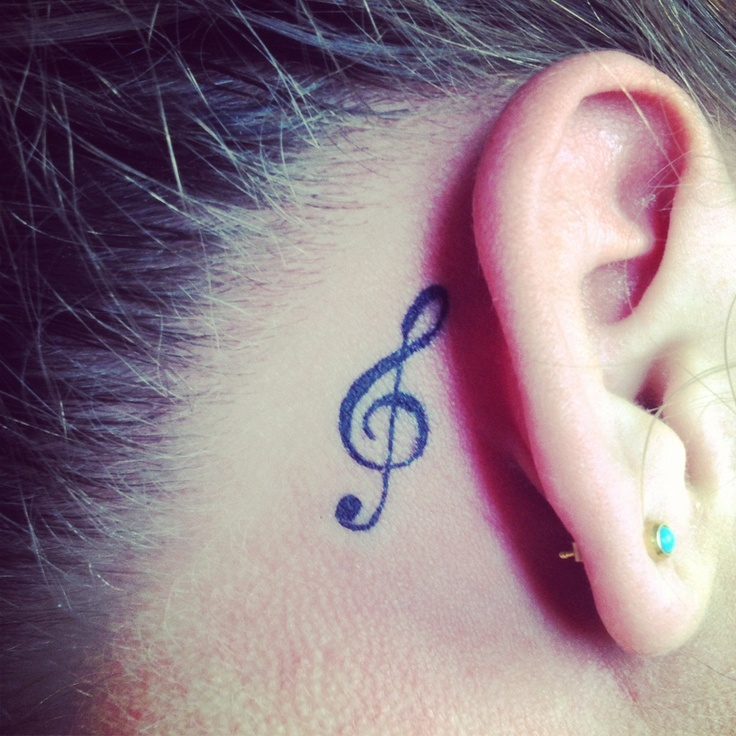 my tattoo! treble clef tattoo for my 18th birthday (: very happy with it!