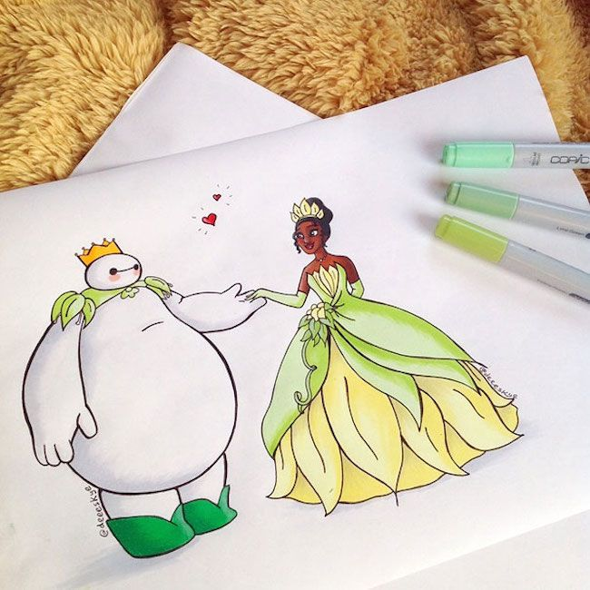 The Princess and the frog Baymax by http://deeeskye.tumblr.com/