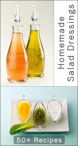 50+ Homemade Salad Dressings  one click to them all