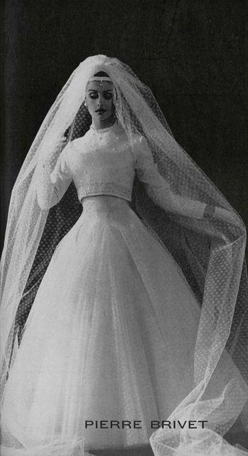 1962 Pierre Brivet Wedding dress
