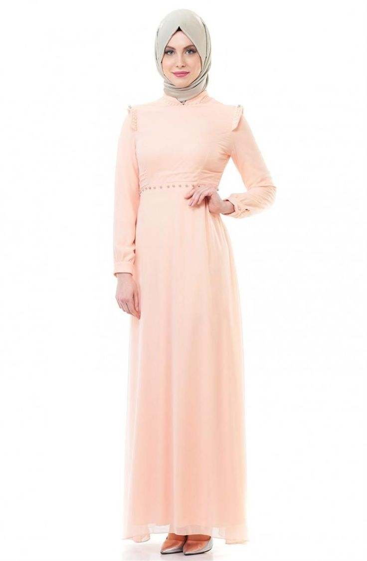 Nursima Abiye Elbise-Pudra ARM7034-41