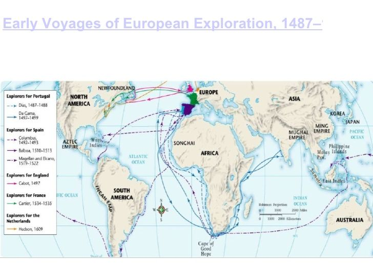 this is a map that shows all the exploration routes from european explorers like vasco da