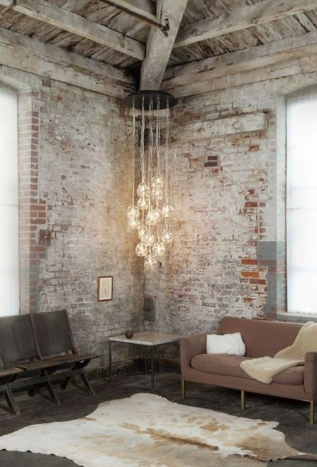 Raw Industrial Living Space | Neutrals | Light Features | Minimal | HarperandHarley