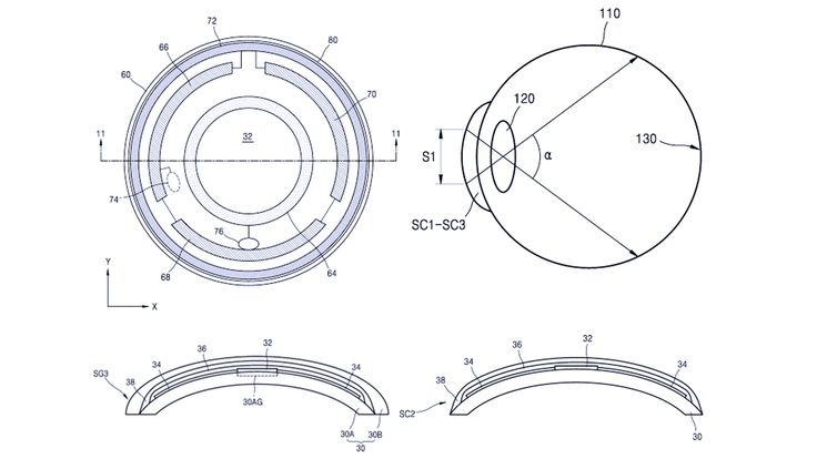 Samsung is exploring a smart contact lens concept that puts an embedded display and camera right in front of users' eyeballs. A patent filing from the South Korean company spotted by SamMobile...