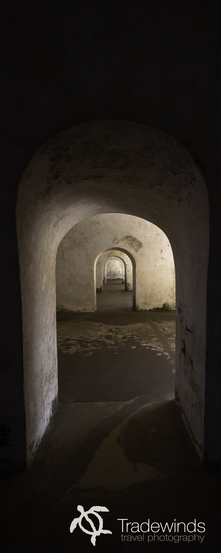 Doorways inside an old fort. San Juan,Puerto Rico  Tradewinds Travel Photography