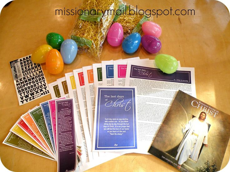 Missionary Mail: Easter - The Last Days of Christ easter study guide