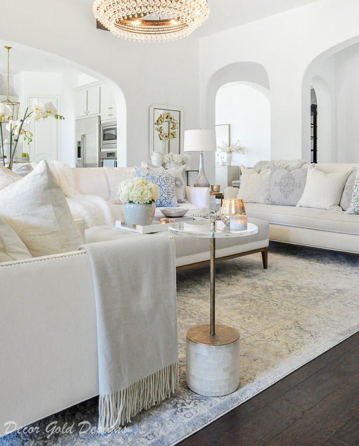 Winter Home Tour Decor Gold Designs White Living Room Decor Living Room Grey Summer Living Room Decor #white #living #room #designs