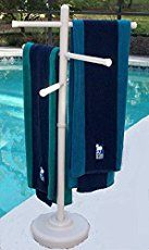 How to build a PVC pool towel rack out of pvc materials.