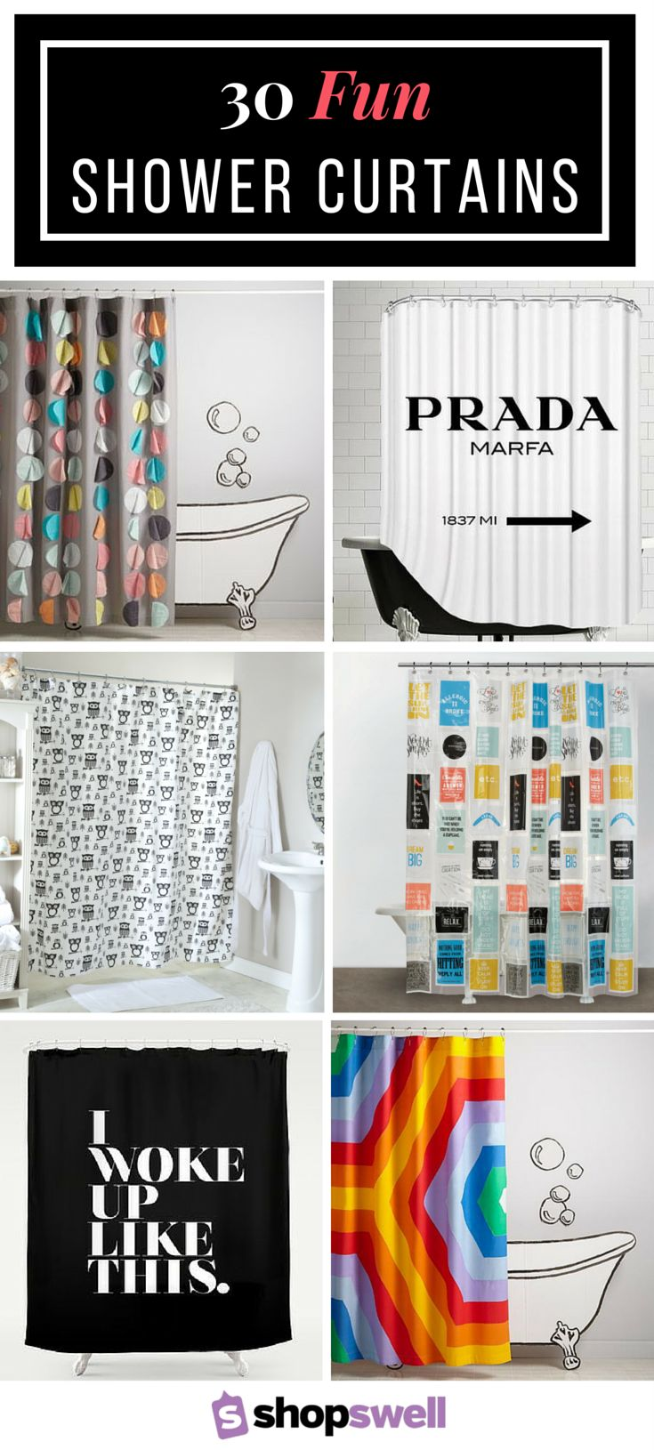 Put some personality in your bathroom to liven up your morning routine with one of these 30 funky shower curtains.