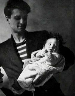 Robert De Niro the poet...with infant Robert DeNiro the actor!