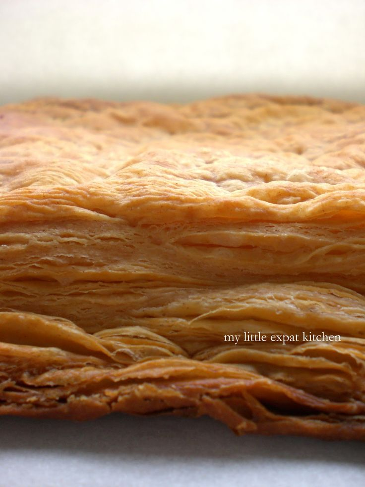 French puff pastry recipe - Pâte feuilletée - From Scratch! Look at those layers! Be still my heart  I am going to make this