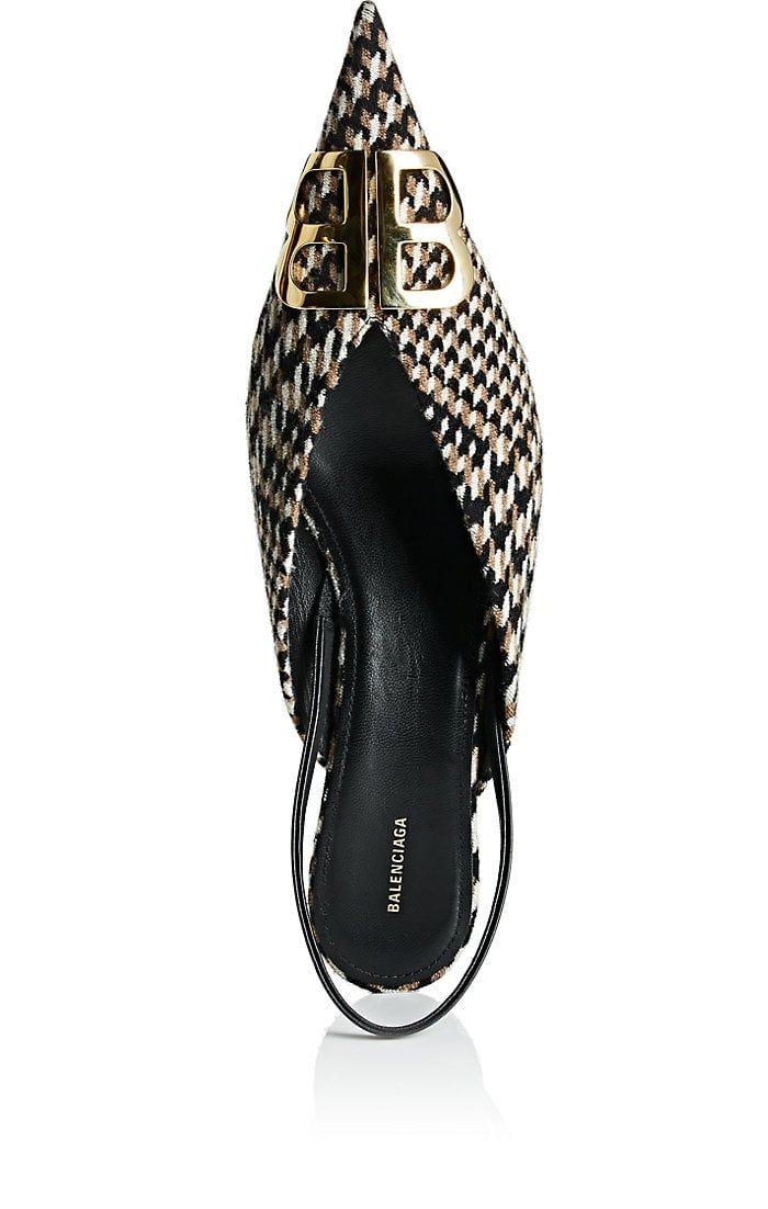 bc77cd5a8dd76 Balenciaga Checked Tweed Slingback Pumps | Barneys New York | shoes ...