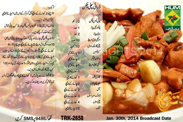 Dry Chilli Chicken Recipe in Urdu & English Masala TV | LadiesPK.Net