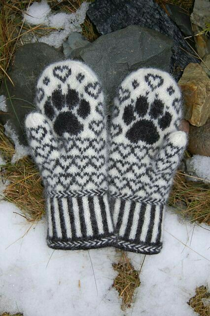 Pfötchen-Handschuhe