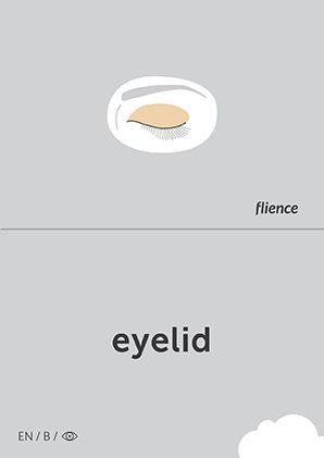 Eyelid #CardFly #flience #human #english #education #flashcard #language