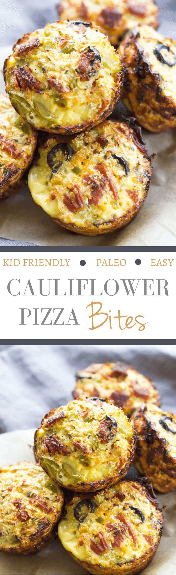 Blue apron cauliflower pizza - Cauliflower Pizza Bites