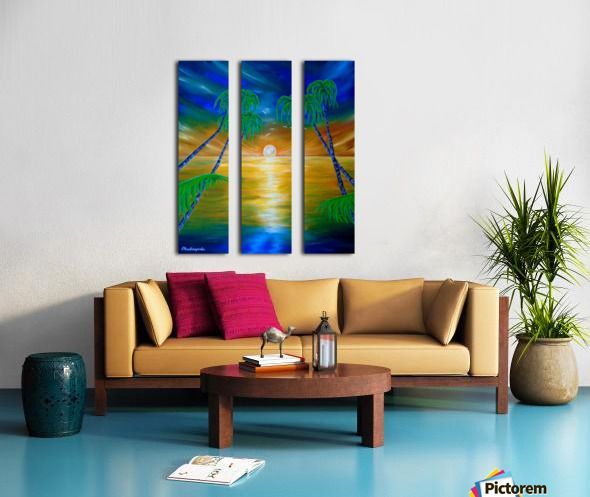 Fantasy, sky, art, painting, in panels