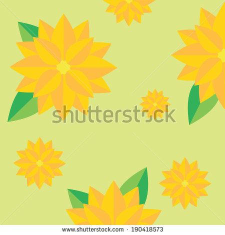 yellow flower and green leaf pattern vector http://www.shutterstock.com/pic-190418573/stock-vector-yellow-flower-and-green-leaf-pattern-vector.html?src=kf6DuYeydaJbeAU9sja52A-1-20