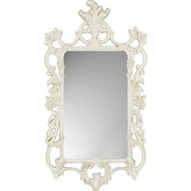 Paragon White Ornate Traditional Wall Mirror - 8853