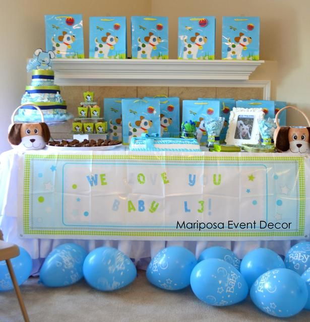 Puppy Baby Shower #puppy #babyshower