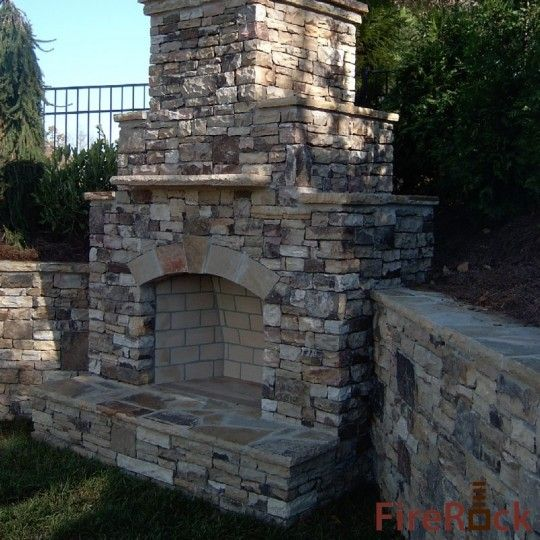 60 Best Outdoor Fireplace Images On Pinterest Dry Stack