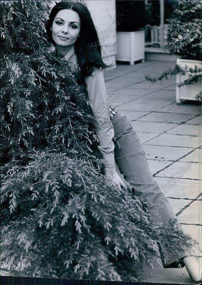 CA269 Vtg Actress Michele Mercier Leans Into Bush Glamour Portrait Orig Photo | eBay