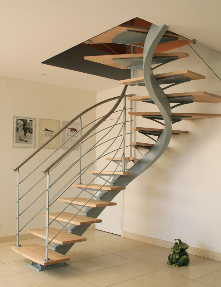 25 best ideas about escalier 1 4 tournant on pinterest main courante en bo - Escalier limon central acier prix ...