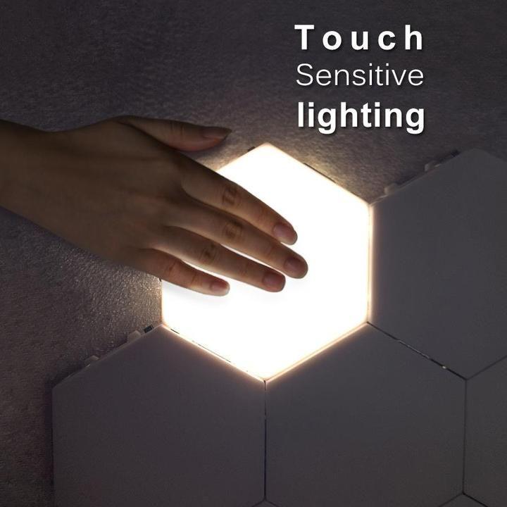 Led Hexagonal Touch Sensitive Lights In 2020 Wall Lights Hexagon Wall