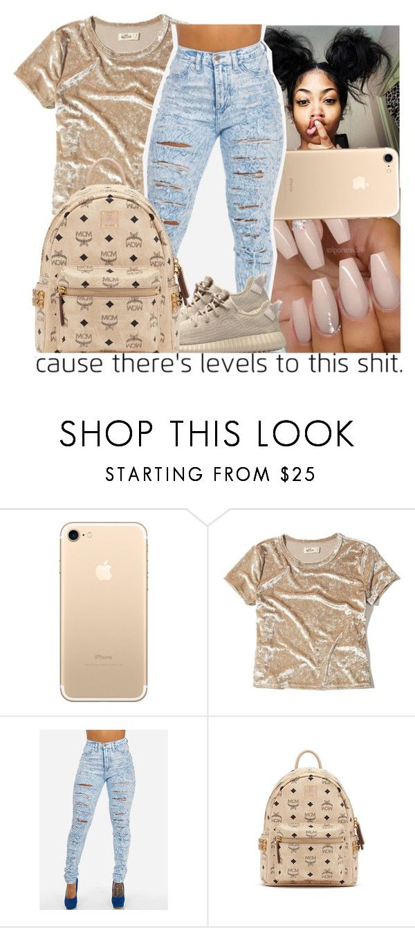 """Untitled #300"" by issaxmonea ❤ liked on Polyvore featuring Hollister Co. and MCM"