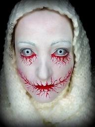 Creepy Bloody Scary Halloween makeup
