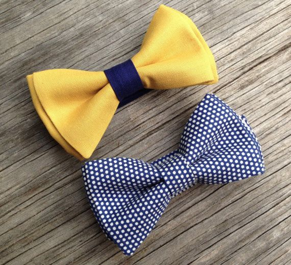 Mustard bow tie mustard bowtie navy bow tie yellow by littlevys