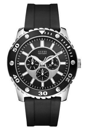 Scegli un orologio da polso GUESS OROLOGI, da uomo, se vuoi essere elegante, di tipo multifunzione con bracciale in gomma con movimento al quarzo.