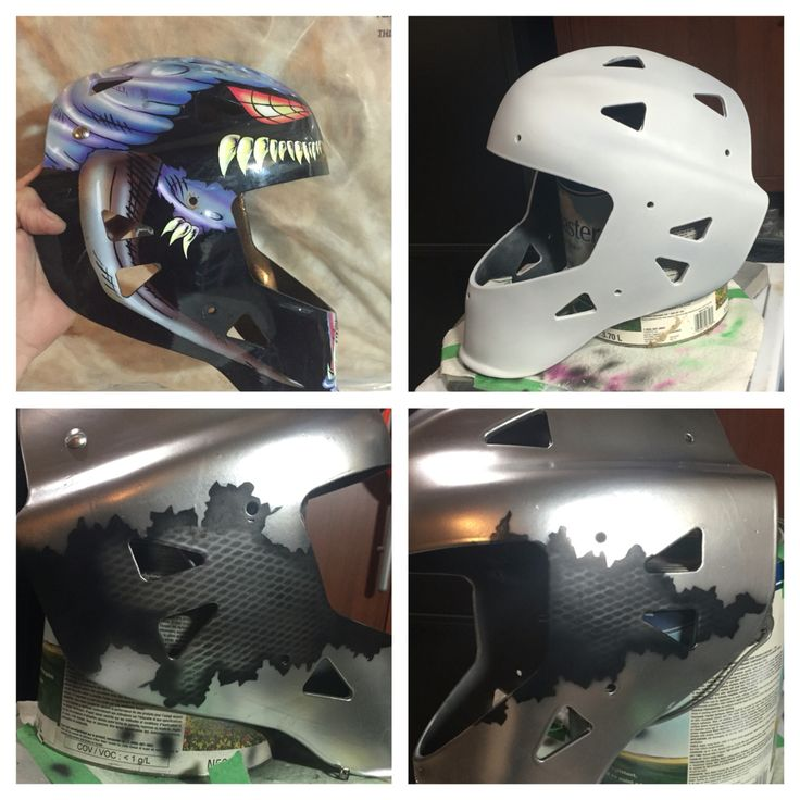 New life into an old mask... Custom air brushed wip