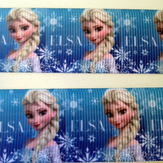 3 Yards ELSA FROZEN Disney  1 Ribbon by OliverandMay on Etsy, $6.89