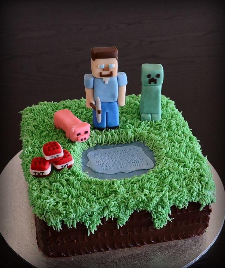 Minecraft Cake Favourite cake designs Pinterest