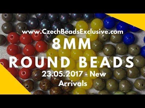 Video! Czech Glass 8mm Round Beads - New Arrivals - 23.05.2017 | CzechBeadsExclusive