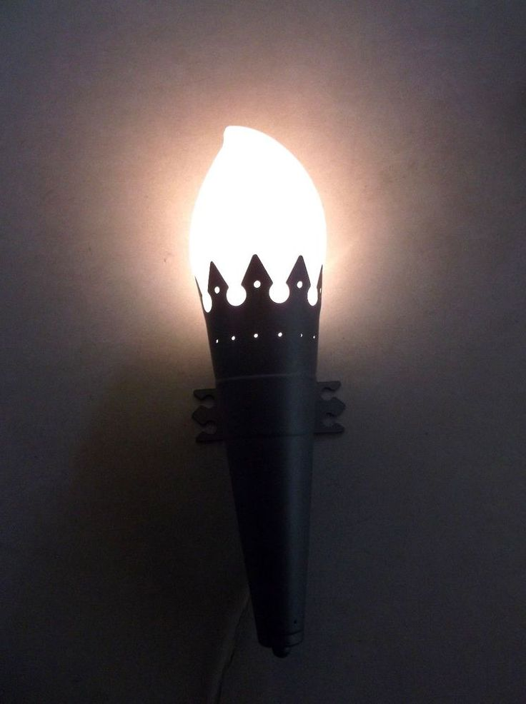 Ikea Minnen Fackla Flame Torch Wall Mount Castle Lamp