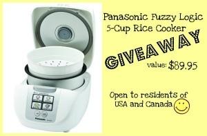 Panasonic Rice Cooker Giveaway