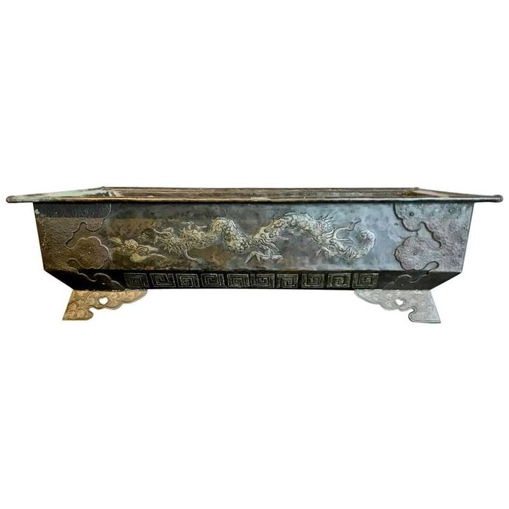 Bronze Planter or Hibachi, Edo Period | From a unique collection of antique and modern metalwork at https://www.1stdibs.com/furniture/asian-art-furniture/metalwork/