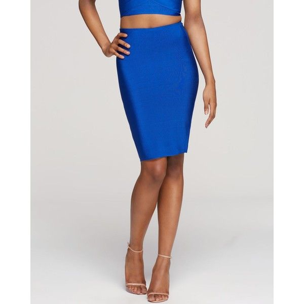 Wow Couture Bandage Pencil Skirt ($10) ❤ liked on Polyvore featuring skirts, royal blue, royal blue pencil skirt, pull on skirt, knee length bodycon skirt, bodycon bandage skirt and royal blue skirt